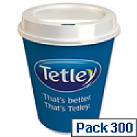 Tetley On The Go Tea Bags with Cups and Lids Pack 300