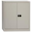 Steel Cupboard 2 Door - Grey - Trexus W914xD400xH1000mm