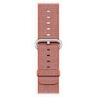 Apple 38mm Woven Nylon Watch Trap Anthracite/Space Orange Band
