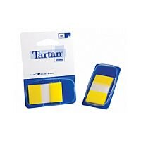 Tartan Index Tab Dispenser 25x43mm 50 Sheet Yellow 7000501980