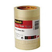 Scotch Easy Tear Clear Tape 25mmx66m BOGOF