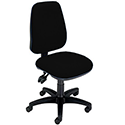 Permanent Contact High Back Office Operators Chair Black Trexus Intro
