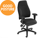 Influx Posture High Back Asynchronous Armchair Black