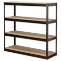 Influx Archive Steel Shelving Unit Heavy-duty Boltless 4 Shelves Capacity 4x 100kg W1320xD450xH1315mm Black