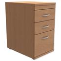 Filing Pedestal Desk-High 3-Drawer 600mm Deep Beech Trexus