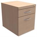 Fixed Filing Pedestal for Cantilever Desk 2-Drawer Maple Kito