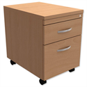 Mobile Filing Pedestal 2-Drawer Beech Trexus