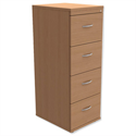 4-Drawer Wooden Filing Cabinet in Beech Height 1320mm Trexus