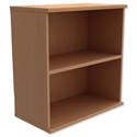 Low Bookcase Ajustable Shelf Floor-leveller Feet Beech Trexus