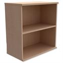 Low Bookcase Adjustable Shelf Floor-leveller Feet Maple Trexus
