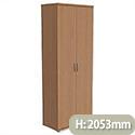 Trexus Tall Cupboard with Lockable Doors W800xD420xH2053mm Beech