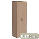 Tall Cupboard with Lockable Doors W800xD420xH2210mm Maple Kito
