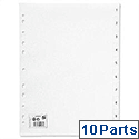 1-10 Index Plastic Multipunched A4 White 5 Star