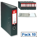 A4 Lever Arch File Black 5 Star Pack 10