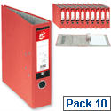 A4 Red Lever Arch File 5 Star Pack 10