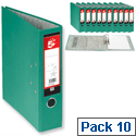 A4 Green Lever Arch File 5 Star Pack 10