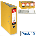 A4 Yellow Lever Arch File Pack 10 5 Star