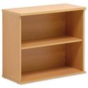 Bookcase Beech Desk-high Adjustable Shelf Floor-leveller Feet W800mm Sonix