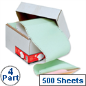 4 Part NCR Listing Paper 241mm 500 Sheets 5 Star
