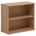 Bookcase Oak Desk-high Adjustable Shelf Floor-leveller Feet W800mm Sonix