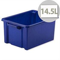Strata Storemaster Midi Crate Blue 14.5 Litres