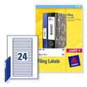 Avery File Labels Laser L7170-25 134x11mm 600 Labels