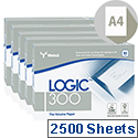 Logic 300 A4 Copier Paper Multifunctional Ream-Wrapped 80gsm 5x 500 Sheets