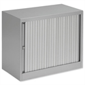 Bisley Euro Tambour Low Cupboard for A4 W800xD430xH695mm Silver ET408/06.SL arn