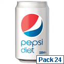 Diet Pepsi Soft Drink Can 330ml [Pack 24]