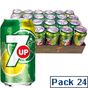 7UP Regular Soft Drink Can 330ml [Pack 24]