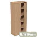 Tall Beech 2 Door Office Cupboard 1850mm Height Kito
