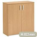Trexus Basics Budget Cupboard with 2 Doors Low Height W740xD340xH822mm Oak
