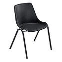 Trexus Polypropylene Stacking Chair with Black Frame Seat Seat WxDxH: 460x420x460mm Black