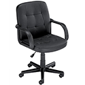 Influx Boss2 SoHo Leather Look Managers Armchair Black