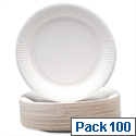 Paper Plates Pack 100 Disposable 180mm