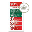 Stewart Superior Foam Fire Extinguisher Self Adhesive Vinyl Sign W100xH200mm