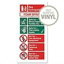 Stewart Superior Foam Fire Extinguisher Self Adhesive Vinyl Sign W100xH200mm