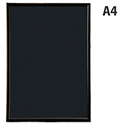Fast Frame A4 Back-loading Non-glass Front Black Photo Album Company