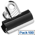 Metal Grip Clips 20mm Black Pack 100 5 Star