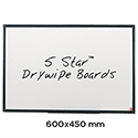 Whiteboard Lightweight 600 x 450mm 5 Star