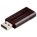 Verbatim PinStripe Drive 16GB Retractable USB Stick Black 49063