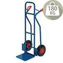 Warehouse Hand Trolley Sturdy Capacity 180kg Blue RelX