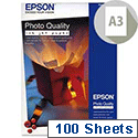 Epson A3+ White Photo Quality Inkjet Printer Paper 104gsm (Pack of 100)