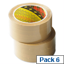 Scotch Brown Packing Tape 50mm x 66m C5066T Pack 6