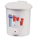 Small Pedal Bin with Liner 2.9 Litres Capacity White Addis