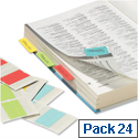 Durable QuickTab Index Tabs Permanent Double Sided 40mm Assorted Colours 8406/00 Pack 24