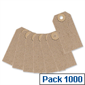 Unstrung Tag Buff 70x35mm Pack 1000