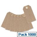 Merit Unstrung Tag Buff 70x35mm Pack 1000