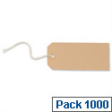Strung Tag Buff 120x60mm Pack 1000