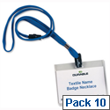 Durable Lanyard with Safety Closure 440mm Blue Pack10